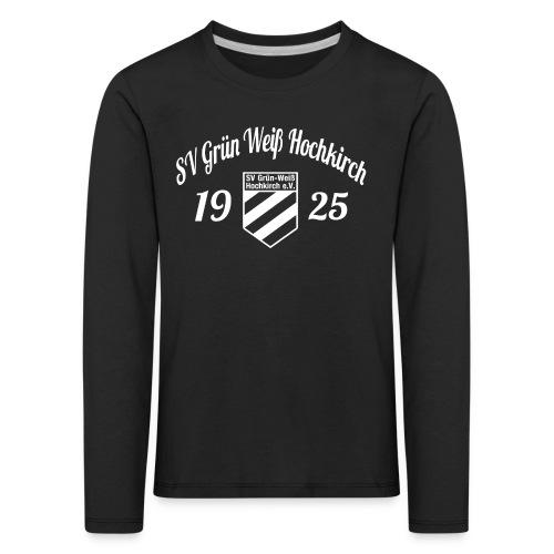Shirt schwarz mit Logo und Schritzug für unsere Herren - ♂  - Kinder Premium Langarmshirt