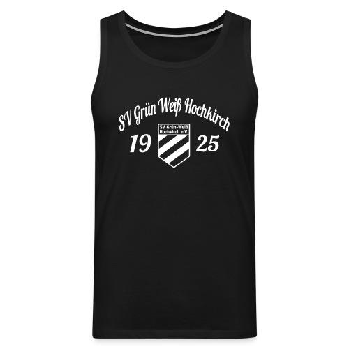 Shirt schwarz mit Logo und Schritzug für unsere Herren - ♂  - Männer Premium Tank Top