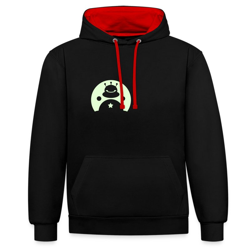 TOTALLY DARE alien - Contrast Colour Hoodie
