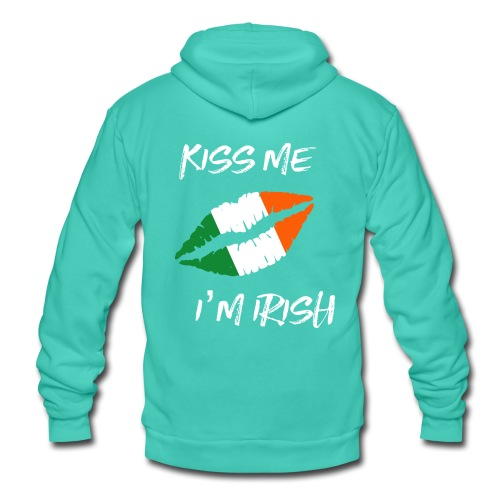 Kiss Me I'm Irish Patricks Day T-shirt - Unisex Hooded Jacket by Bella + Canvas