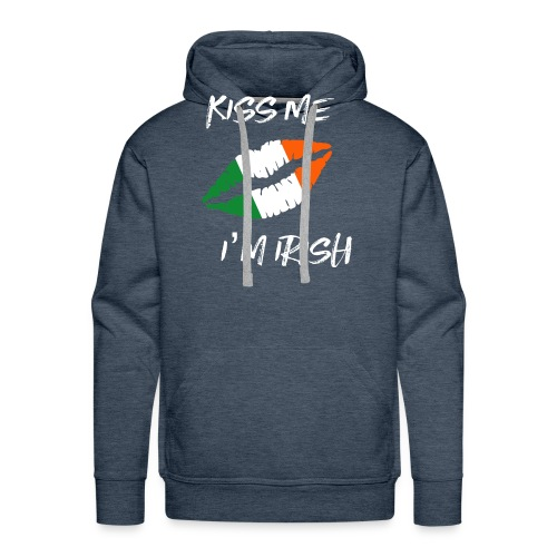 Kiss Me I'm Irish Patricks Day T-shirt - Men's Premium Hoodie