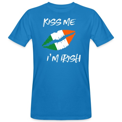 Kiss Me I'm Irish Patricks Day T-shirt - Men's Organic T-Shirt