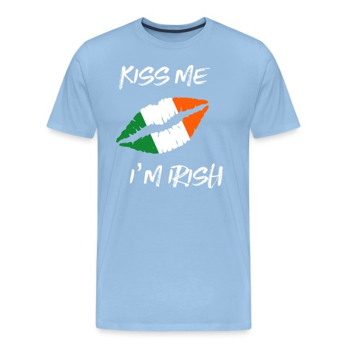 Kiss Me I'm Irish Patricks Day T-shirt - Men's Premium T-Shirt