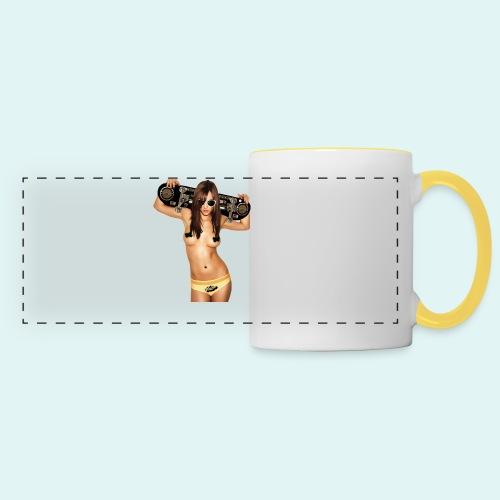 Tee shirt Homme Skate Girl Ghetto Blaster - Mug panoramique contrasté et blanc