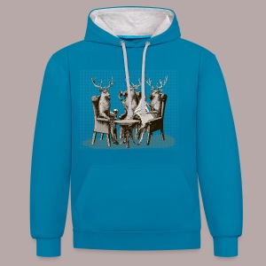 Stag Party - Contrast Colour Hoodie