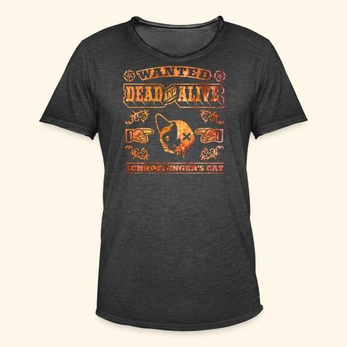 Schrödingers Katze, Kerlie - Männer Vintage T-Shirt