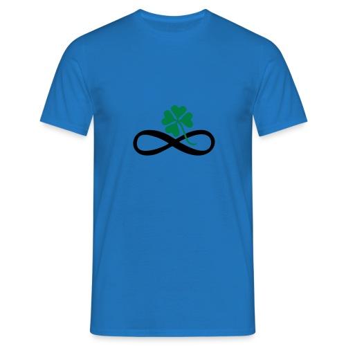 Lemniskate Glückskleeblatt - Männer T-Shirt