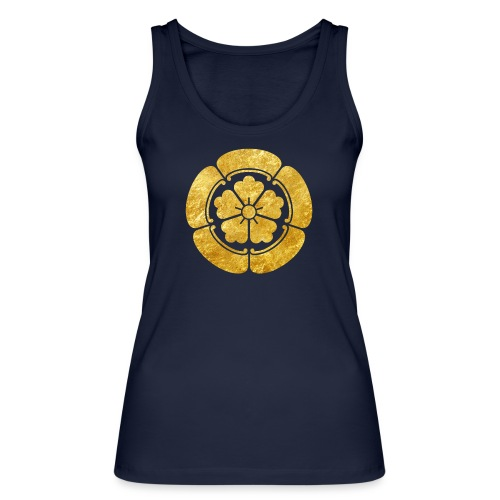 Oda Mon Japanese samurai clan faux gold on black - Women's Organic Tank Top by Stanley & Stella