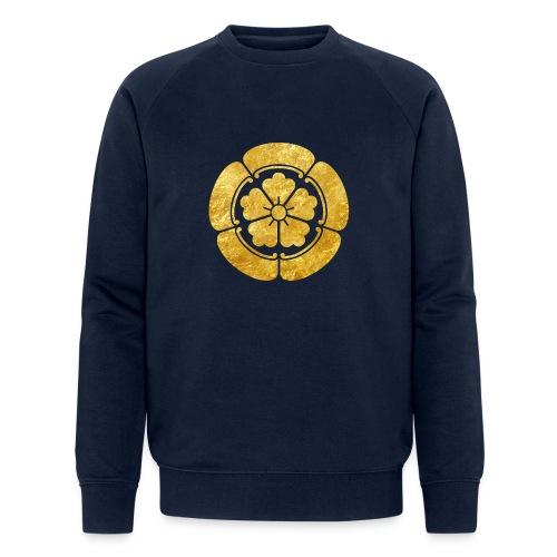 Oda Mon Japanese samurai clan faux gold on black - Men's Organic Sweatshirt by Stanley & Stella