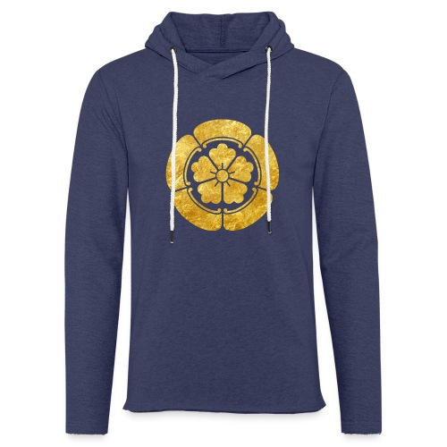 Oda Mon Japanese samurai clan faux gold on black - Light Unisex Sweatshirt Hoodie