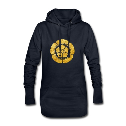 Oda Mon Japanese samurai clan faux gold on black - Hoodie Dress