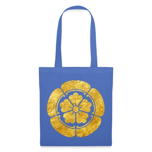 Oda Mon Japanese samurai clan faux gold on black - Tote Bag