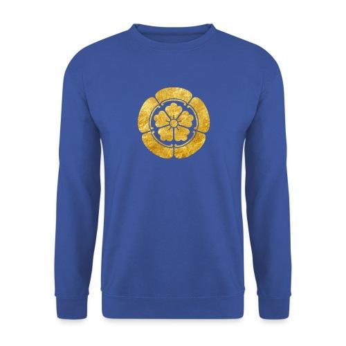Oda Mon Japanese samurai clan faux gold on black - Men's Sweatshirt