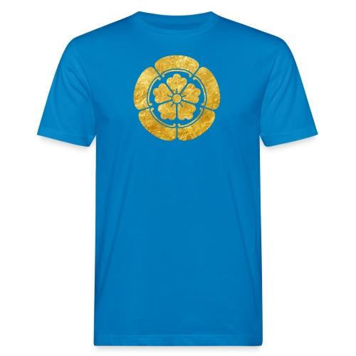 Oda Mon Japanese samurai clan faux gold on black - Men's Organic T-Shirt
