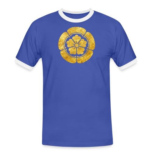 Oda Mon Japanese samurai clan faux gold on black - Men's Ringer Shirt