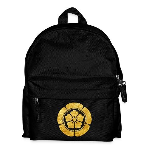 Oda Mon Japanese samurai clan faux gold on black - Kids' Backpack