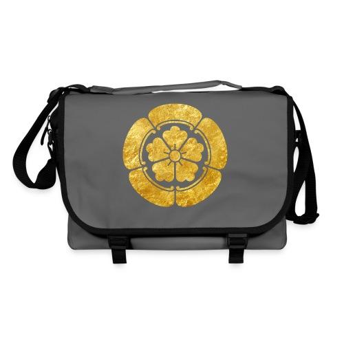Oda Mon Japanese samurai clan faux gold on black - Shoulder Bag