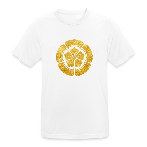 Oda Mon Japanese samurai clan faux gold on black - Men's Breathable T-Shirt