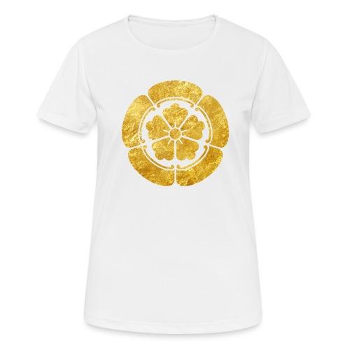 Oda Mon Japanese samurai clan faux gold on black - Women's Breathable T-Shirt