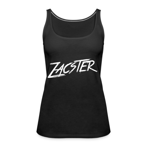 ZACSTER Womens Black T-Shirt - Women's Premium Tank Top