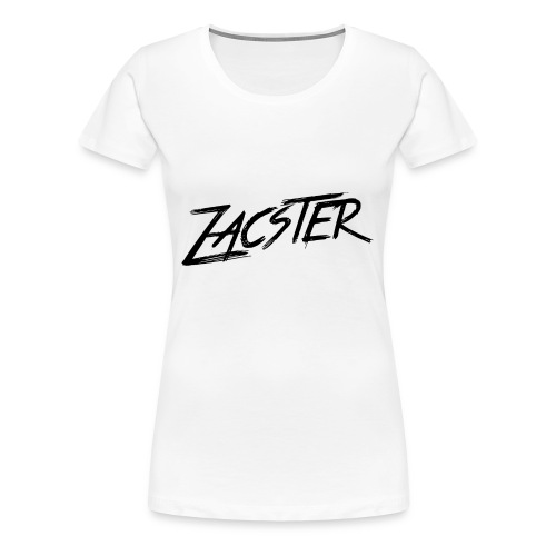 ZACSTER Womens White T-Shirt - Women's Premium T-Shirt