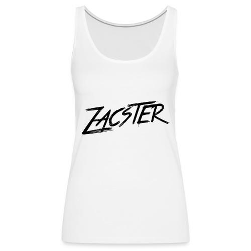 ZACSTER Womens White T-Shirt - Women's Premium Tank Top