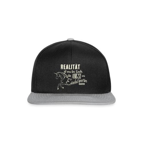 Einhorn Design Realität 3 - RAHMENLOS Unicorn exklusiv Geschenk Collection - Snapback Cap