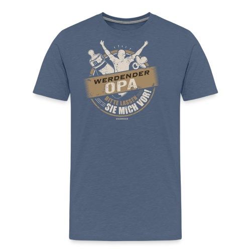 Werdender Opa lassen Sie mich vor light Sepia 2 - Geschenk zur Geburt - RAHMENLOS - Männer Premium T-Shirt