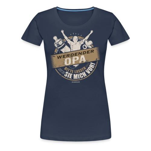 Werdender Opa lassen Sie mich vor Sepia 1 - Geschenk zur Geburt - RAHMENLOS - Frauen Premium T-Shirt