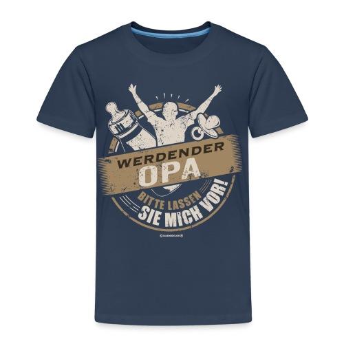 Werdender Opa lassen Sie mich vor Sepia 1 - Geschenk zur Geburt - RAHMENLOS - Kinder Premium T-Shirt