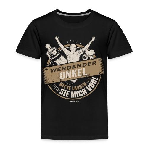 Werdender Onkel lassen Sie mich vor light Sepia 2 - Geschenk zur Geburt - RAHMENLOS - Kinder Premium T-Shirt