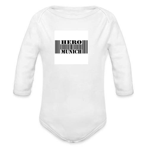Barcode Body Kurzarm Baby - Baby Bio-Langarm-Body