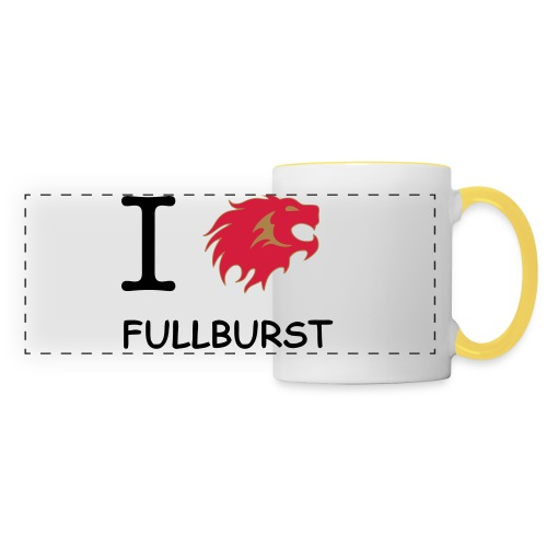 love fullburst - Mug panoramique contrasté et blanc
