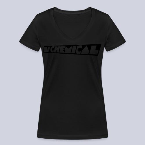 DJ Chemical Frauen T-Shirt Schwarz - Frauen Bio-T-Shirt mit V-Ausschnitt von Stanley & Stella