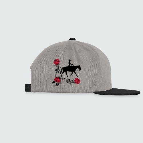 Motiv-181-Schwarz-Magenta-grau - Snapback Cap