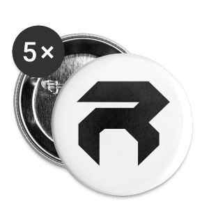 REX MUG - BLK ON WHT - Buttons small 25 mm