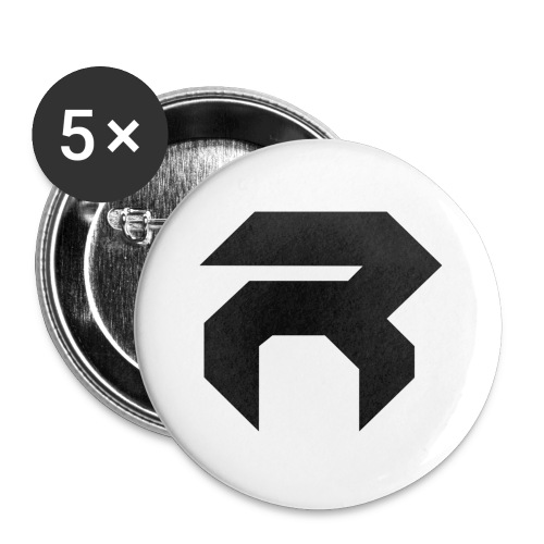 REX MUG - BLK ON WHT - Buttons small 1''/25 mm (5-pack)