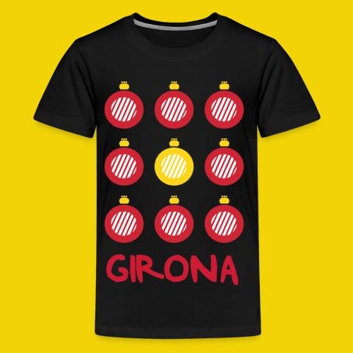 Teenage Girona Badge T-Shirt (On Black) - Teenage Premium T-Shirt