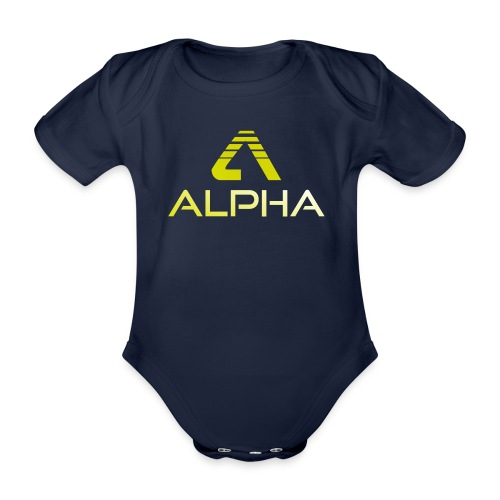 Alpha Kindershirt - Baby Bio-Kurzarm-Body