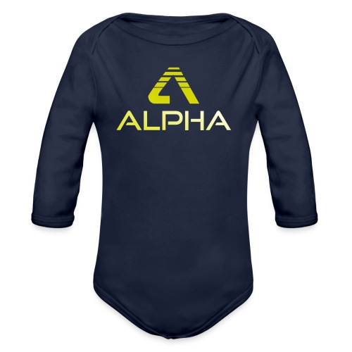 Alpha Kindershirt - Baby Bio-Langarm-Body