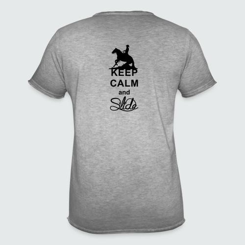 Motiv-162-Schwarz - Männer Vintage T-Shirt