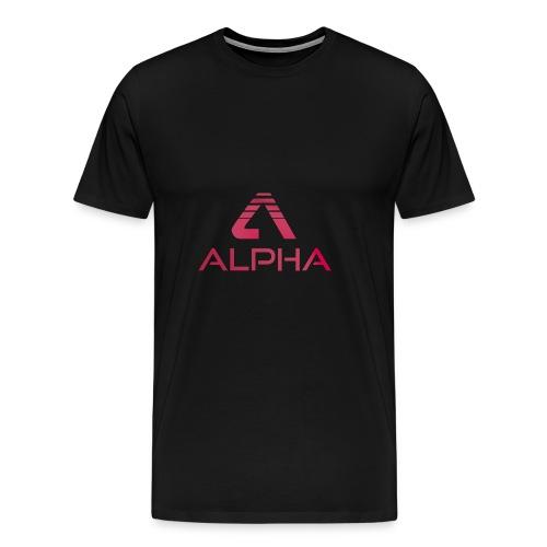 Alpha Hoodie Bicolor_Pink - Männer Premium T-Shirt