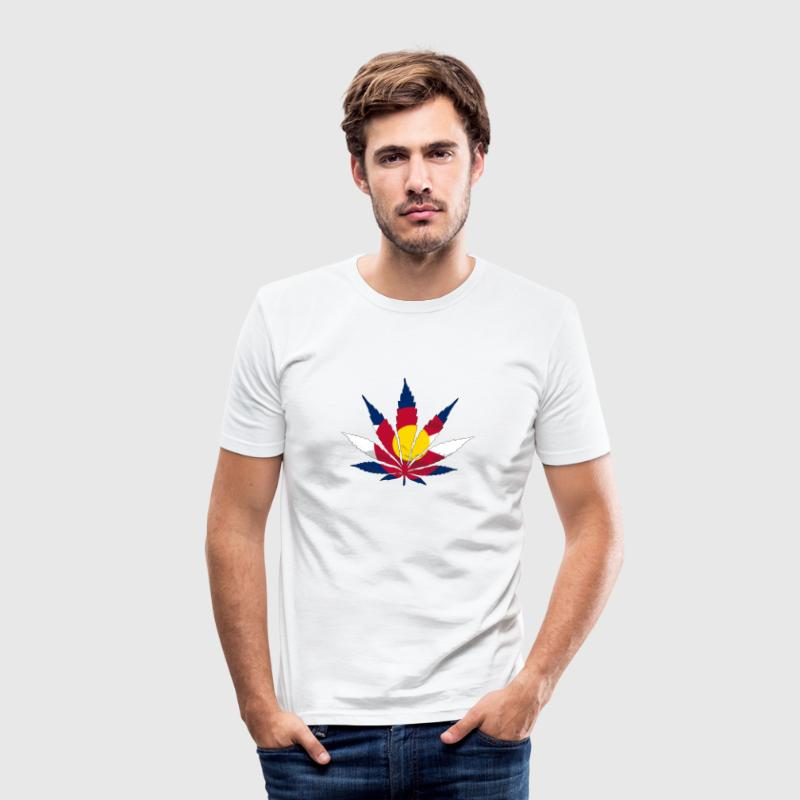 Cannabis Colarado Flag T-Shirts - Männer Slim Fit T-Shirt