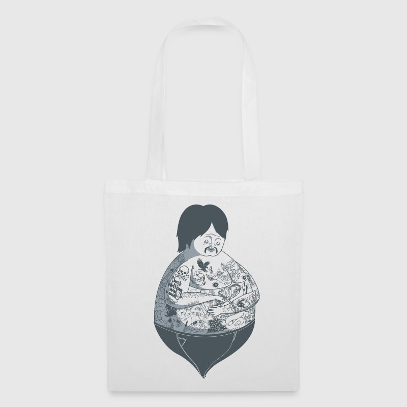 Blanc Tattoo Guy Sacs et sacs à dos - Tote Bag