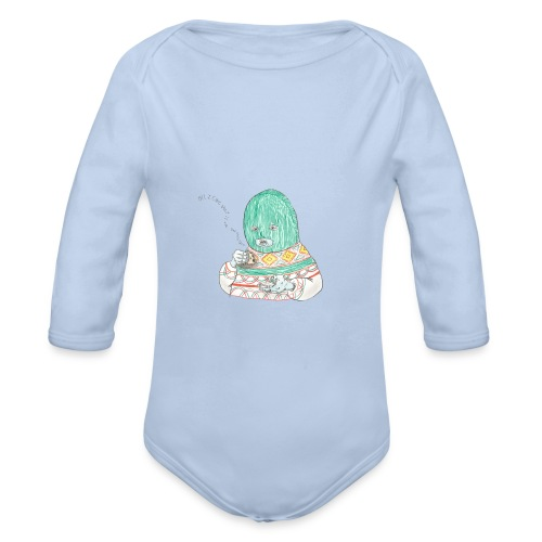 All I care about is myself baby bib - Organic Longsleeve Baby Bodysuit