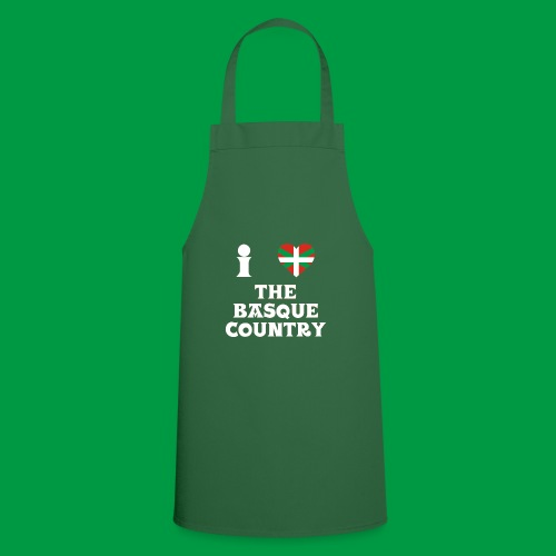 Male I Love The Basque Country T-Shirt (On Green) - Cooking Apron