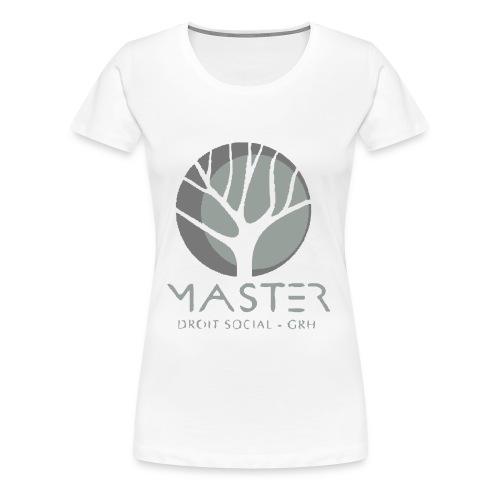 Tee shirt femme manches longues logo noir /vert - T-shirt Premium Femme