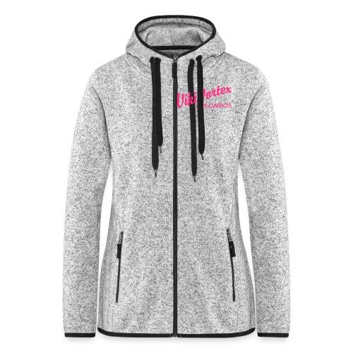 Black Zippy New Logo - Women's Hooded Fleece Jacket