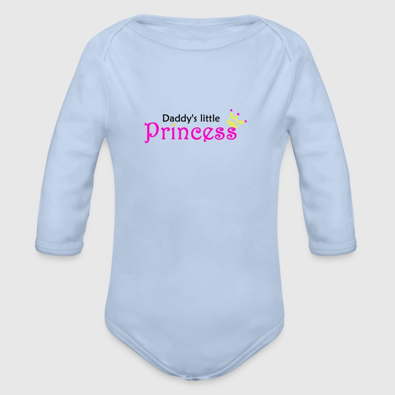 Daddy's little Princess Baby Bodys - Baby Bio-Langarm-Body