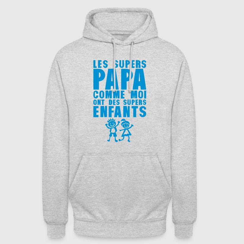 super papa comme moi petit enfant citation Sweat-shirts - Sweat-shirt à capuche unisexe